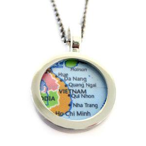 Vietnam Map Pendant Necklace